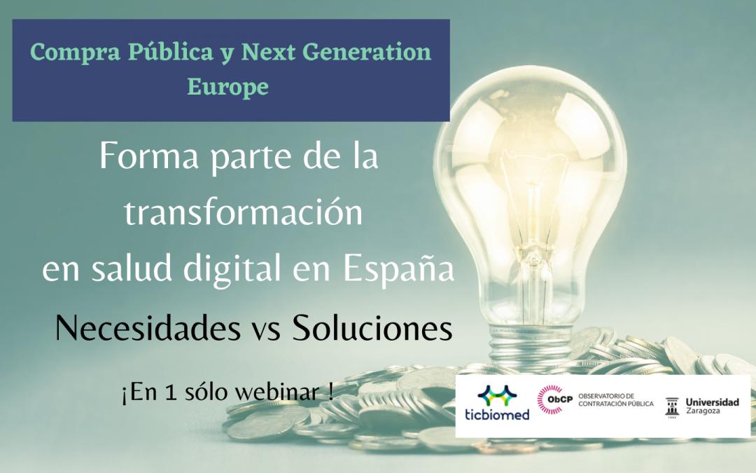 Webinar: Compra Pública Next Generation Europe